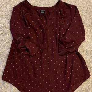 Torrid 3/4-sleeve Georgette style blouse